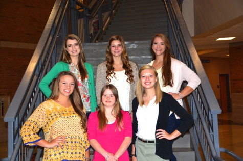 HOMECOMING QUEEN CANDIDATES (back) Madison Damron, Brittany Richardson, Mollie Johnson (front) Breanna Baughman, Jaime McCurry, Hannah Hale