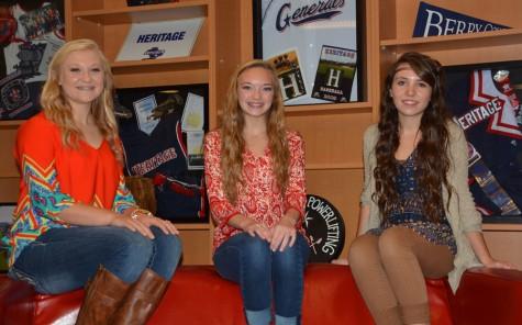 freshman Katelyn Burns, sophomore Jada Tipton, junior Makayla McKibben