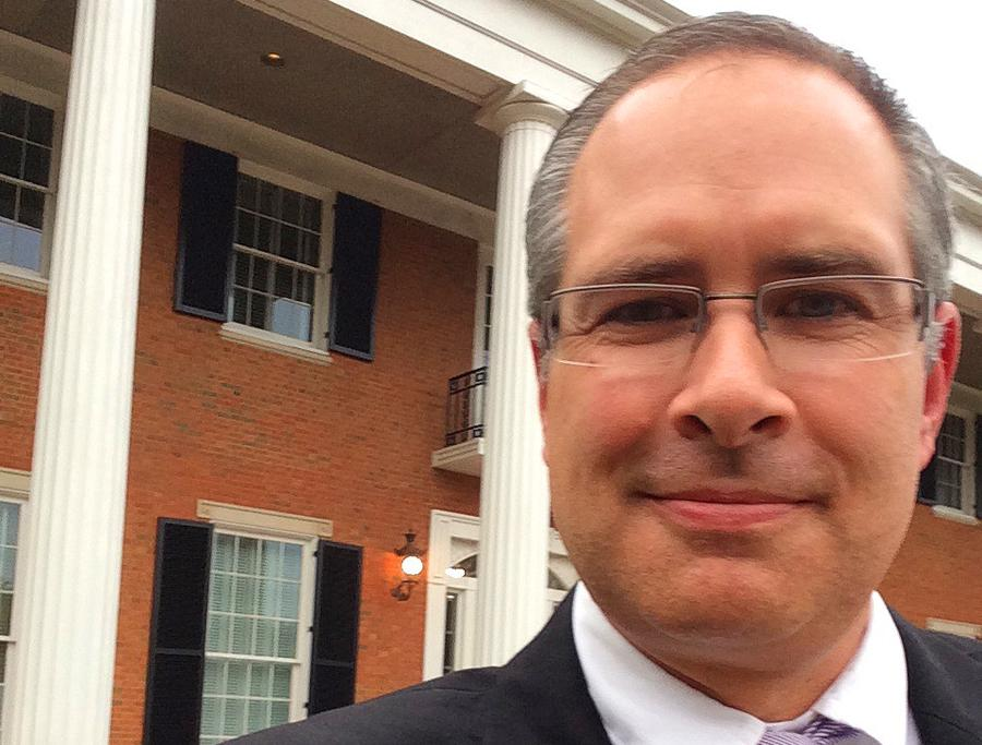 Selfie in Front of the Governor's Mansion, Atlanta, GA
