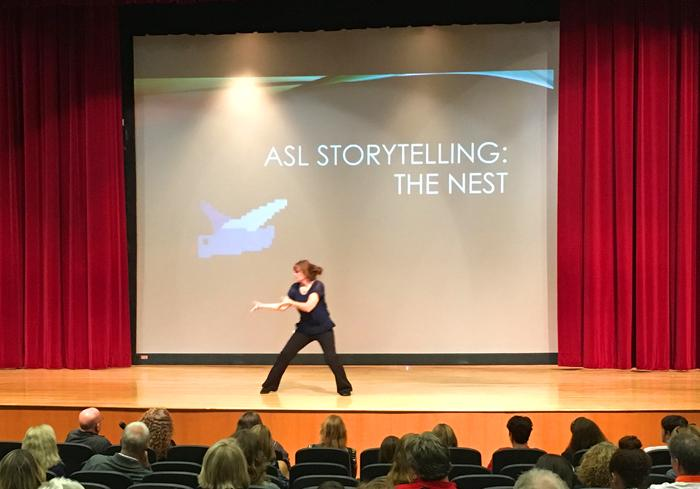 ASL HONOR SOCIETY HOSTS TRIX BRUCE