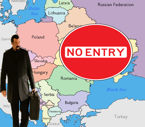 SEAGAL BANNED FROM UKRAINE